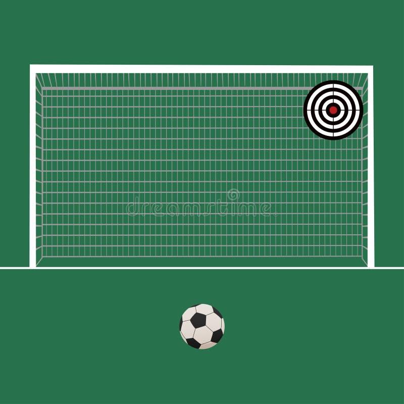 Een realistisch geweven van het grasvoetbal/voetbal gebied Vectoreps 10 Het dossier bevat transparantie royalty-vrije illustratie
