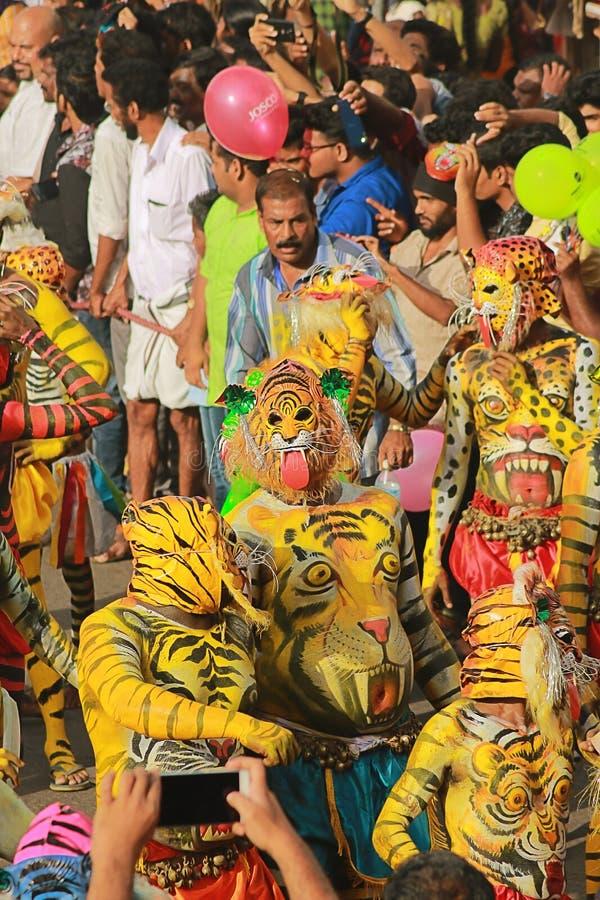 Een recreatieve volkskunst van de staat van Kerala royalty-vrije stock fotografie