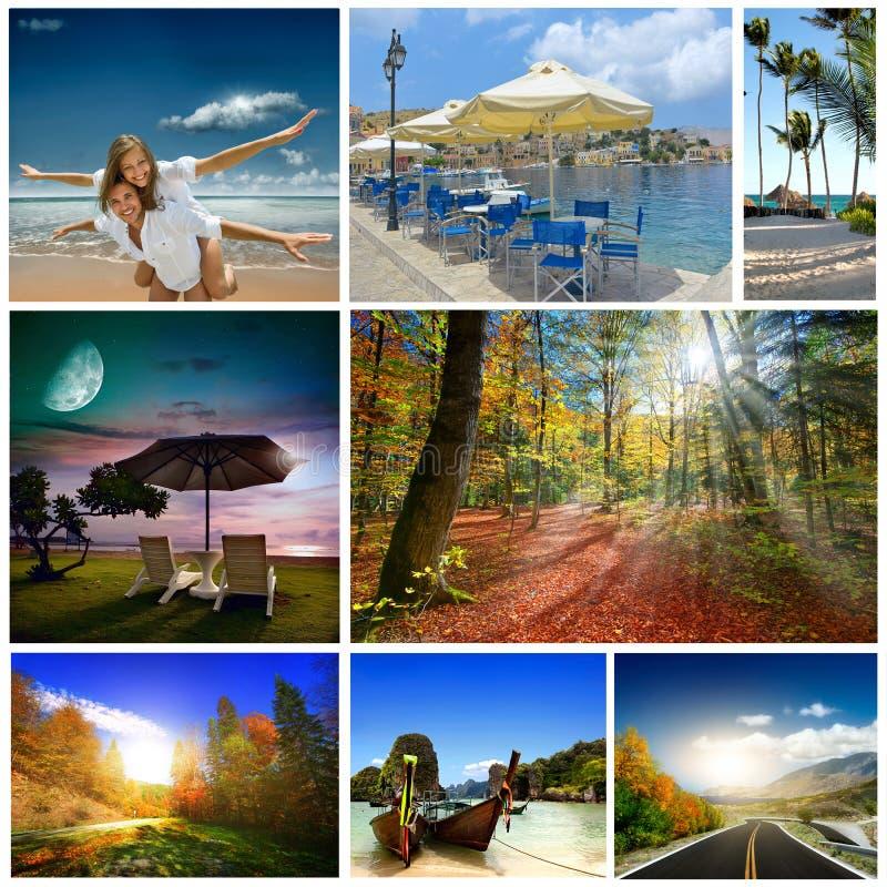 Een reeks foto's van de zomer holidaym royalty-vrije stock fotografie