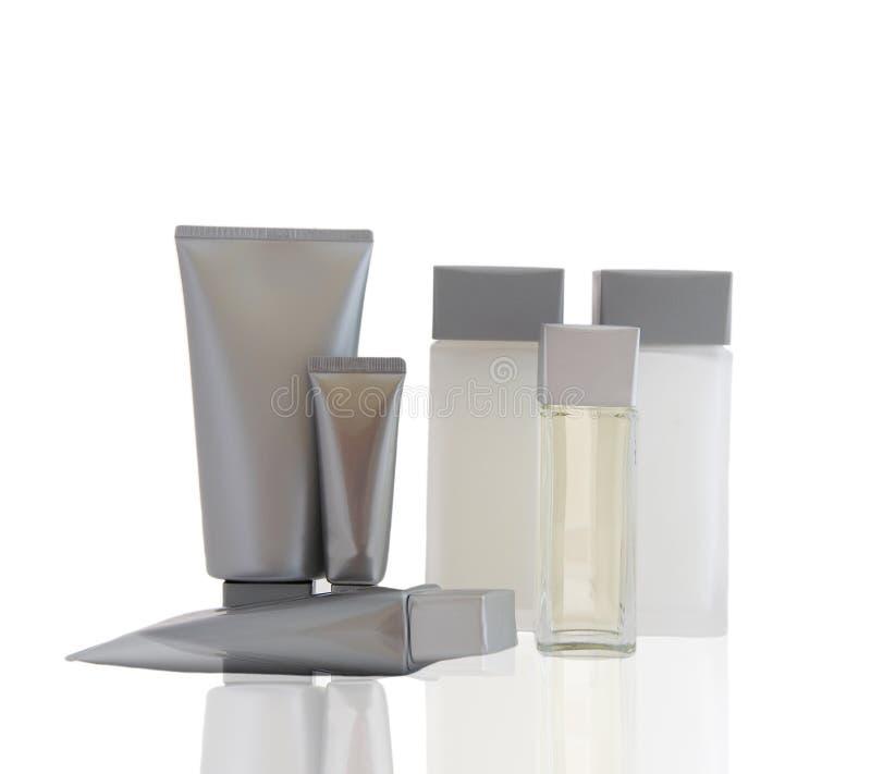 Een reeks kosmetische producten stock fotografie
