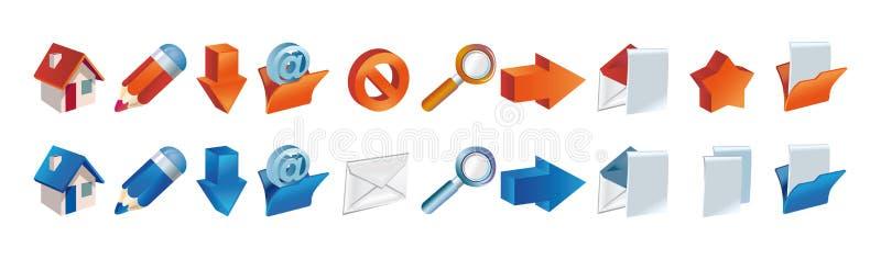 Een reeks pictogrammen