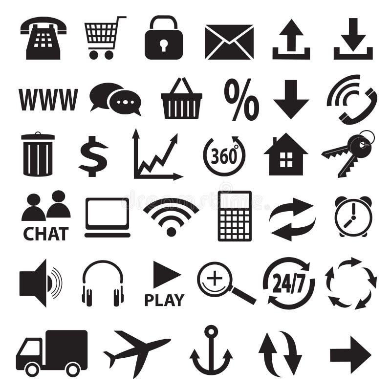 Een reeks pictogrammen. royalty-vrije illustratie