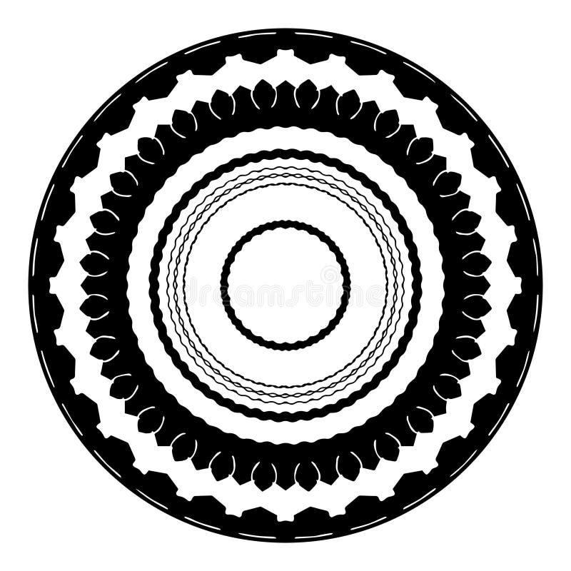 Een reeks ronde kaders in een zwart-wit stijl royalty-vrije illustratie