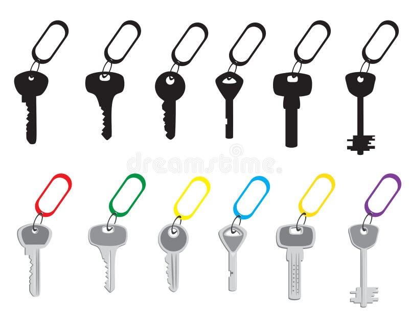Een reeks sleutels royalty-vrije illustratie