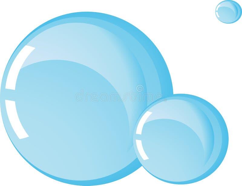 Een reeks van drie waterballen van verschillende grootte stock illustratie