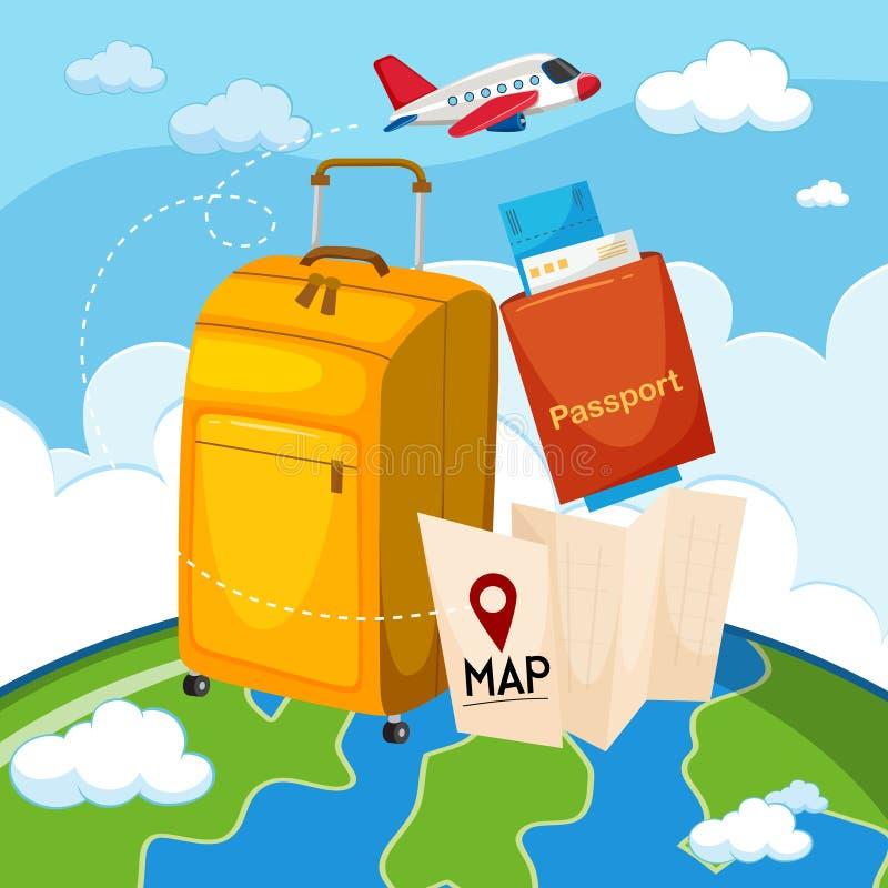 Een reeks van reiselement stock illustratie
