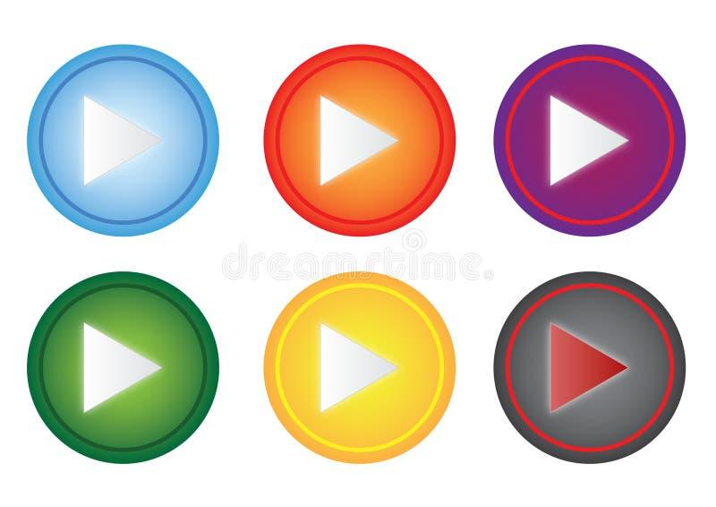 Een reeks van spelknoop vector illustratie