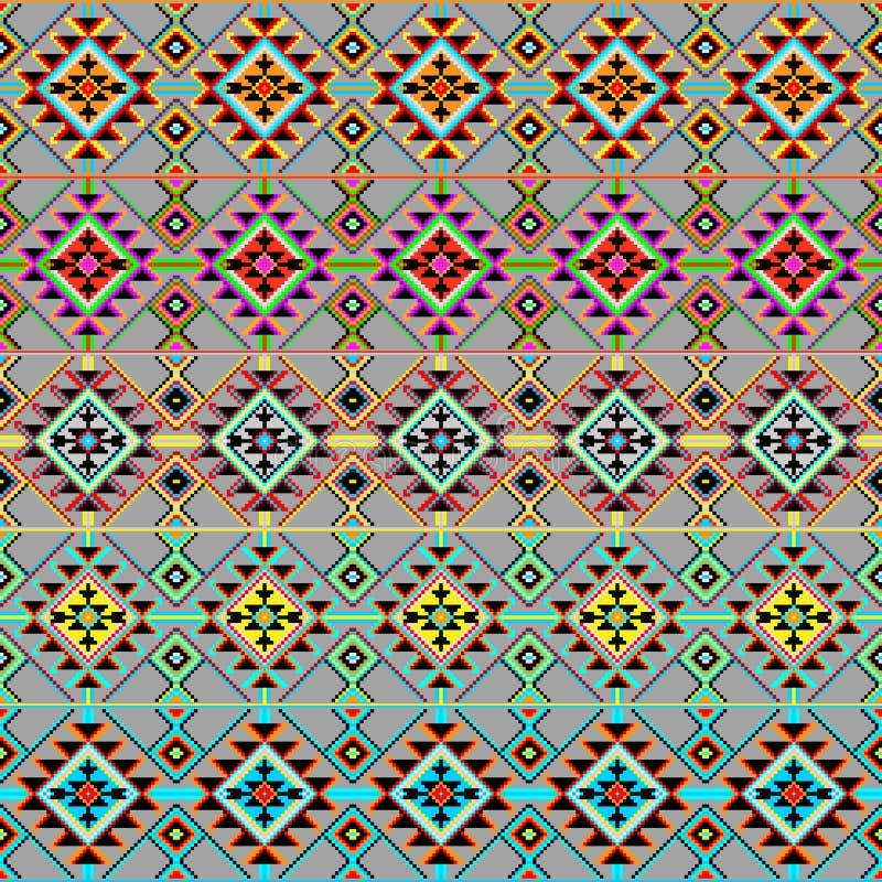 Een reeks van stammen naadloos kleurrijk geometrisch patroon royalty-vrije illustratie