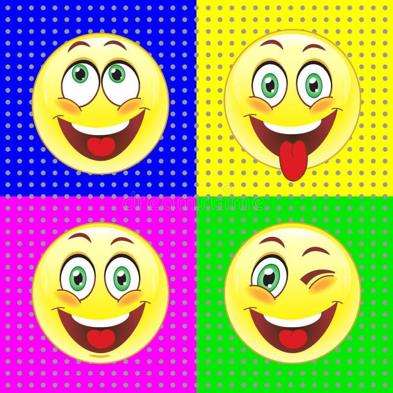 Een reeks van vector ondertekent het afschilderen van menselijke emotie royalty-vrije illustratie