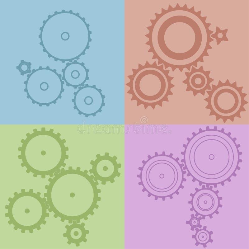 Een reeks van 20 verschillende toestellen, verschillende kleuren en afmetingen Co royalty-vrije illustratie