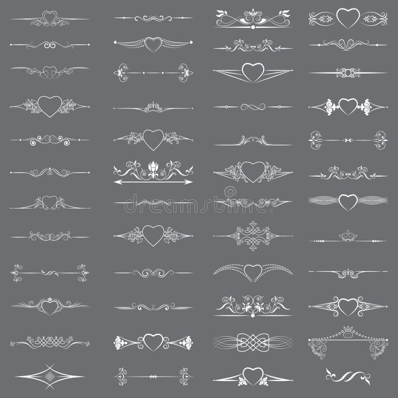 Een reeks verdelers voor decoratie en verzadigt snelheid vector illustratie