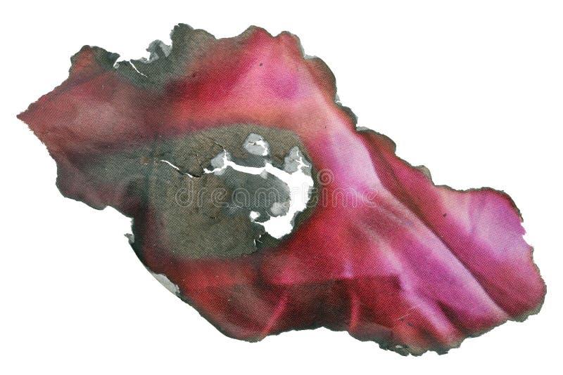 Een reepje van een luxetijdschrift op glanzend papier roze pagina brandde in de brand royalty-vrije stock afbeeldingen