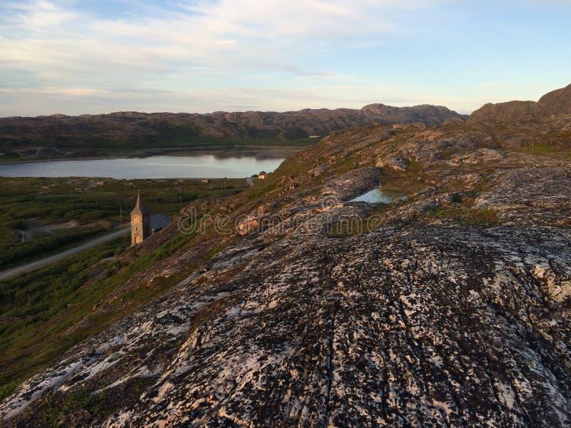 Een reis aan Noord-Noorwegen stock afbeelding
