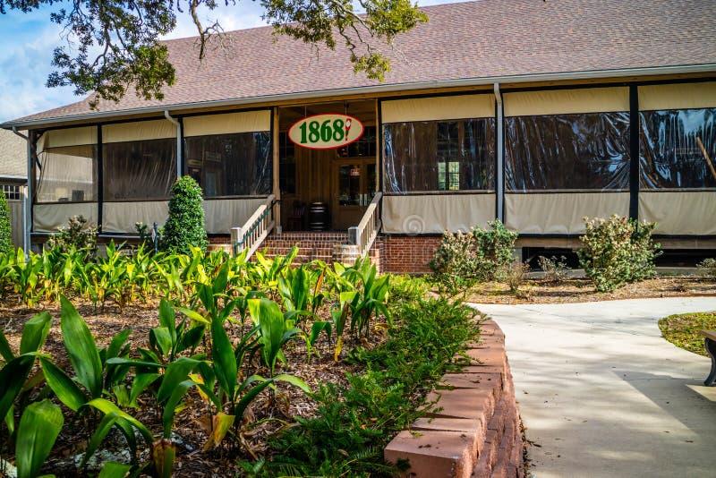 Een restaurant binnen de van het Tabascosausfabriek en Voedsel Reis in Avery Island, Louisiane royalty-vrije stock afbeeldingen