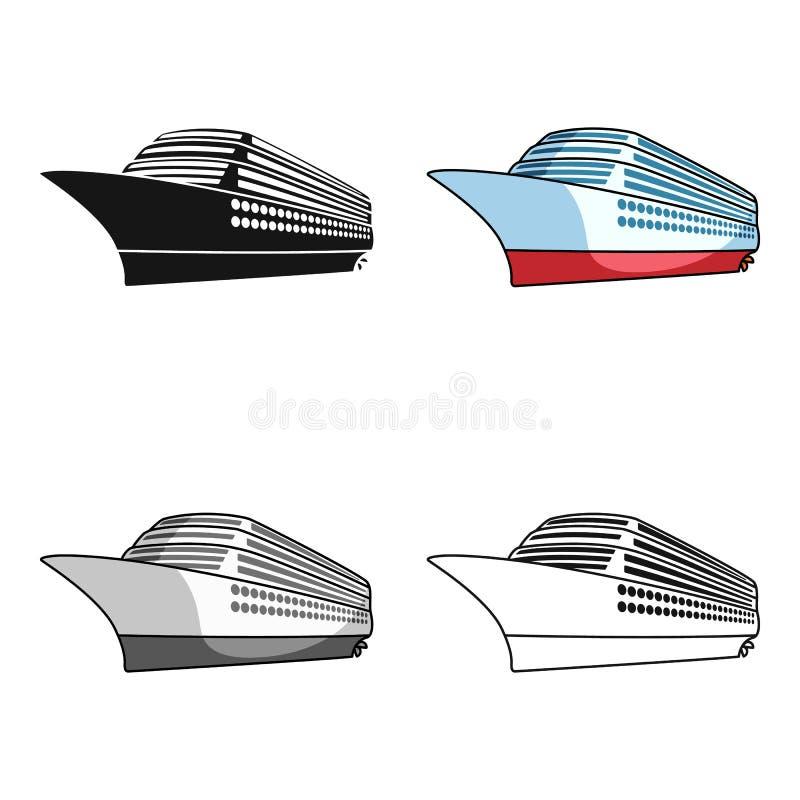 Een reusachtige cruisevoering Voertuig om over lange afstanden naar een reusachtig aantal mensen te reizen Schip en watervervoer stock illustratie