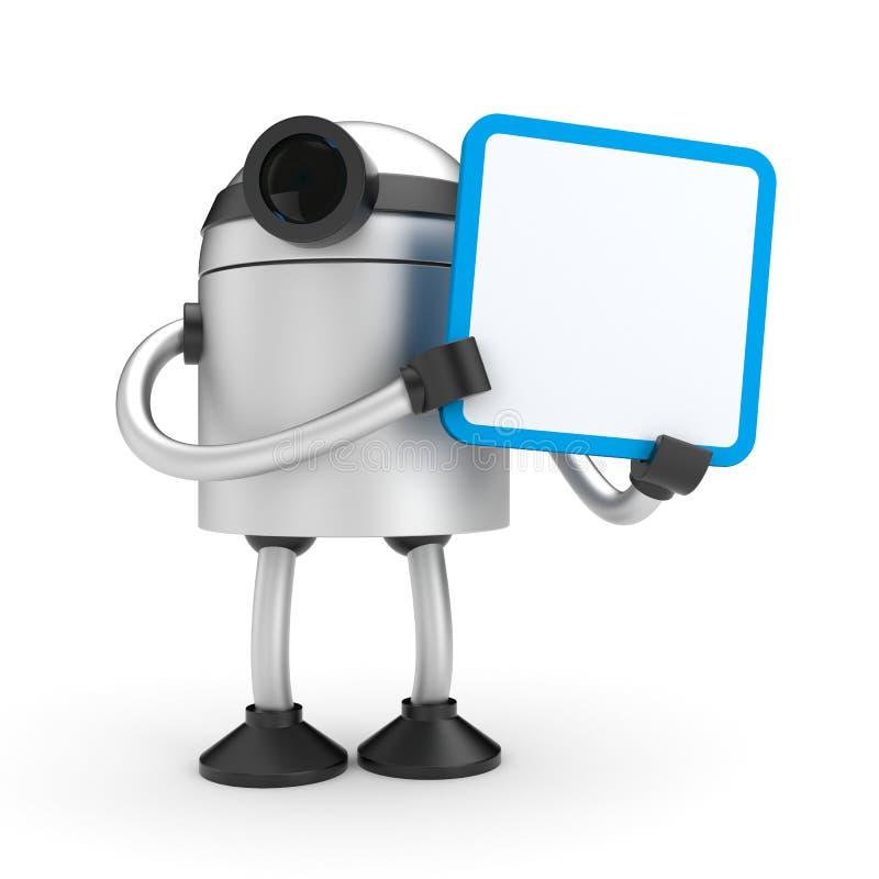 Een robot die een teken houden vector illustratie