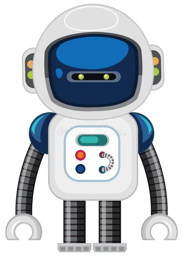 Een robot op witte achtergrond stock illustratie