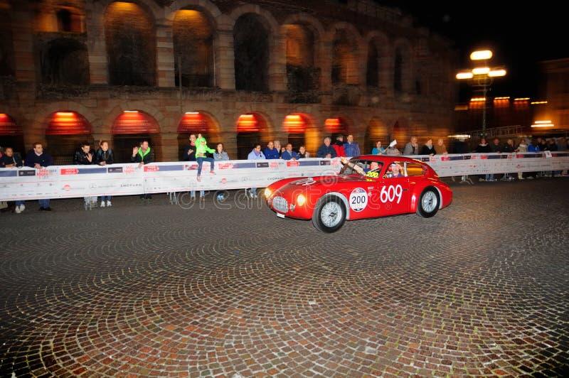Een rode Ermini 1100 Berlinetta royalty-vrije stock fotografie