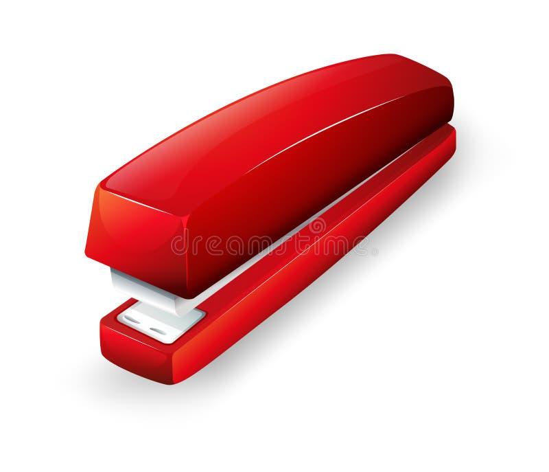 Een rode nietmachine royalty-vrije illustratie