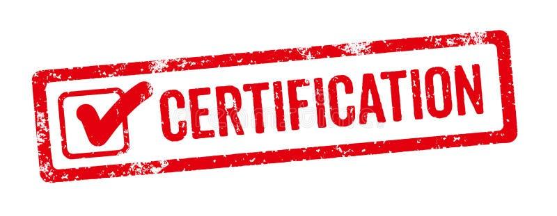 Een rode zegel op een witte achtergrond - Certificatie vector illustratie