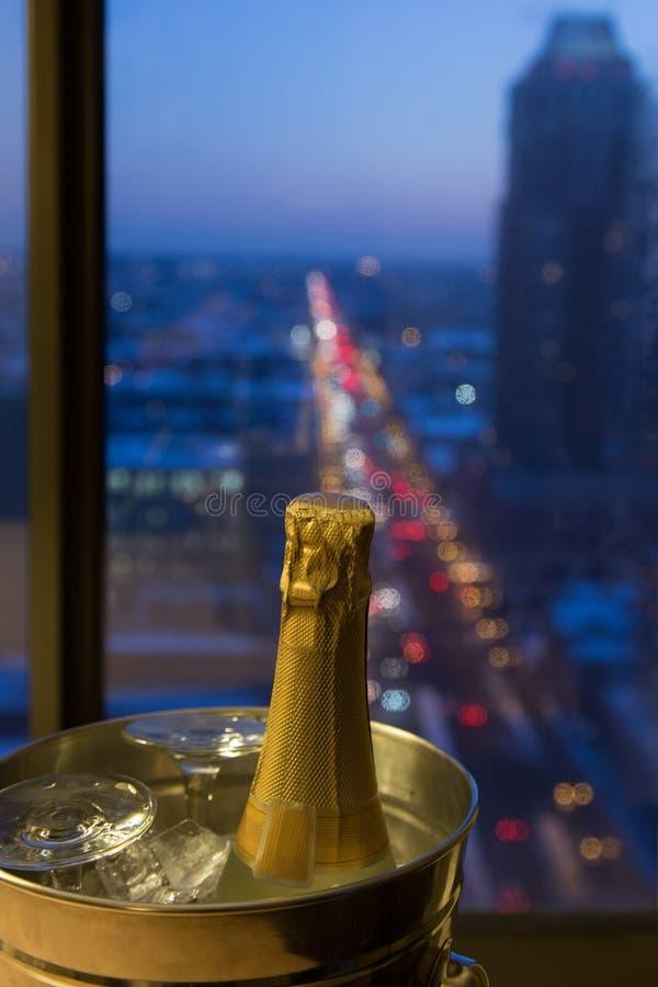 Een Romantische Viering, Champagne met een Mening stock foto's