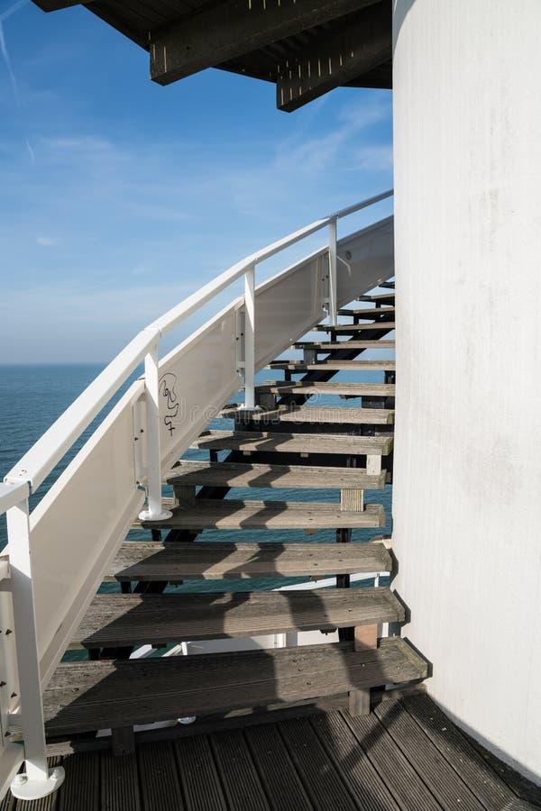 Een ronde trap stock afbeelding
