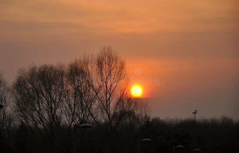 Een ronde van de zonsondergang in Olympische parkï ¼ ŒBeijing stock foto