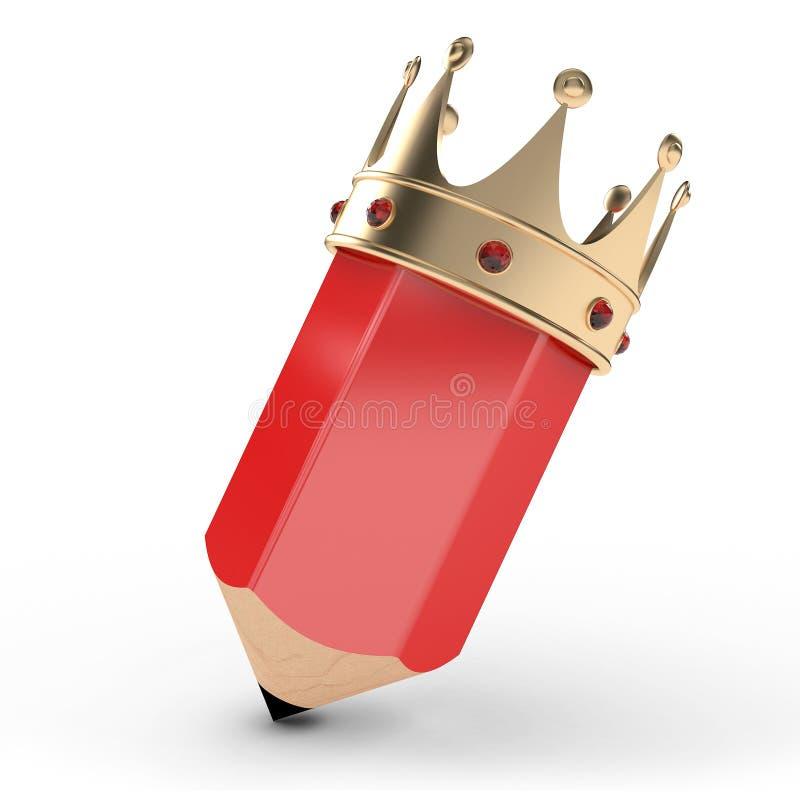 Het Potlood van de koning vector illustratie