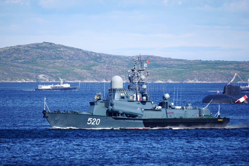 Een Russisch slagschip van de klein-waaierraket stock fotografie