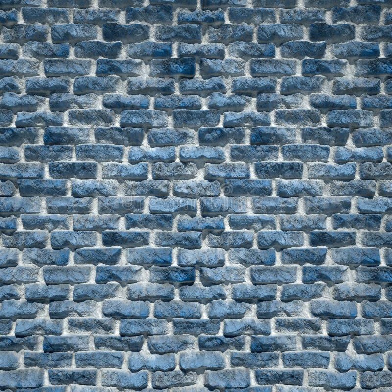 Een Rustieke Blauwe Bakstenen muur royalty-vrije stock fotografie