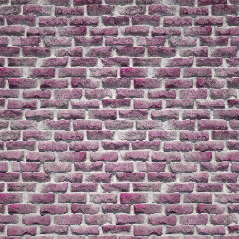 Een Rustieke Roze Bakstenen muur stock afbeelding