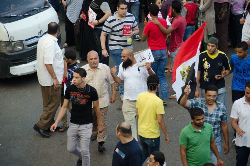 Een Salfist Die Tegen Voorzitter Morsi Aantonen Redactionele Stock Afbeelding