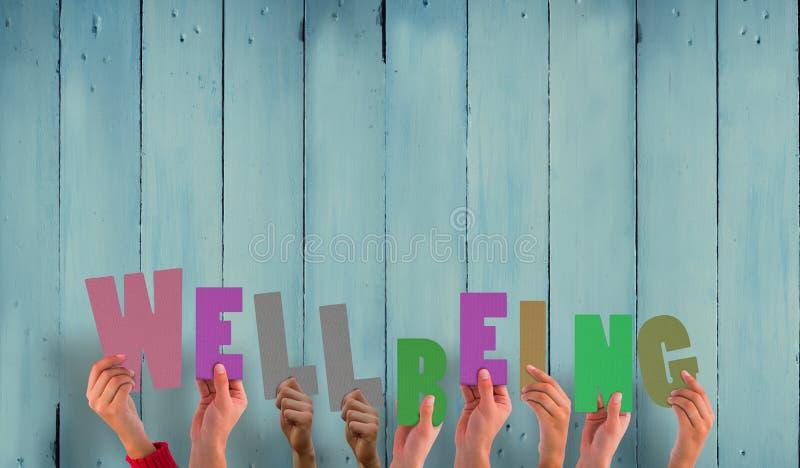 Een Samengesteld beeld die van handen goed - zijnd steunen stock foto