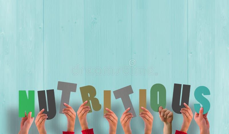 Een Samengesteld voedzaam beeld die van handen steunen stock illustratie