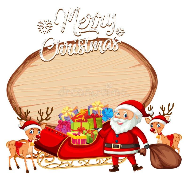 Een santa op Kerstmisbanner vector illustratie
