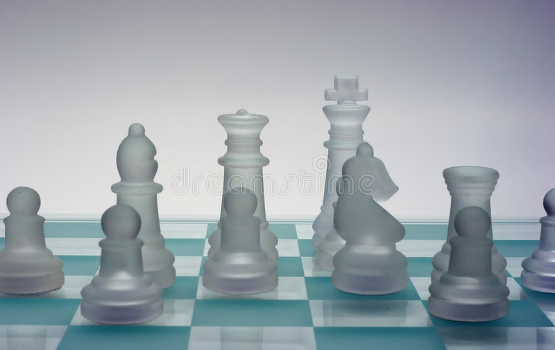 Een schaakTeam royalty-vrije stock foto