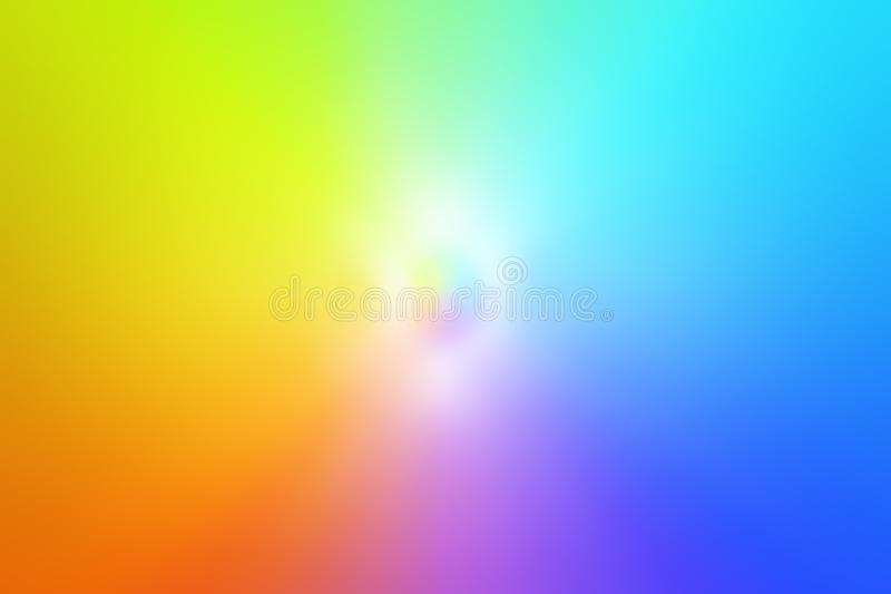 Een schaduw van heldere kleuren die van geel tot groen uitstrekken, van blauw aan blauw, roze en zich van rood tot geel royalty-vrije stock afbeelding