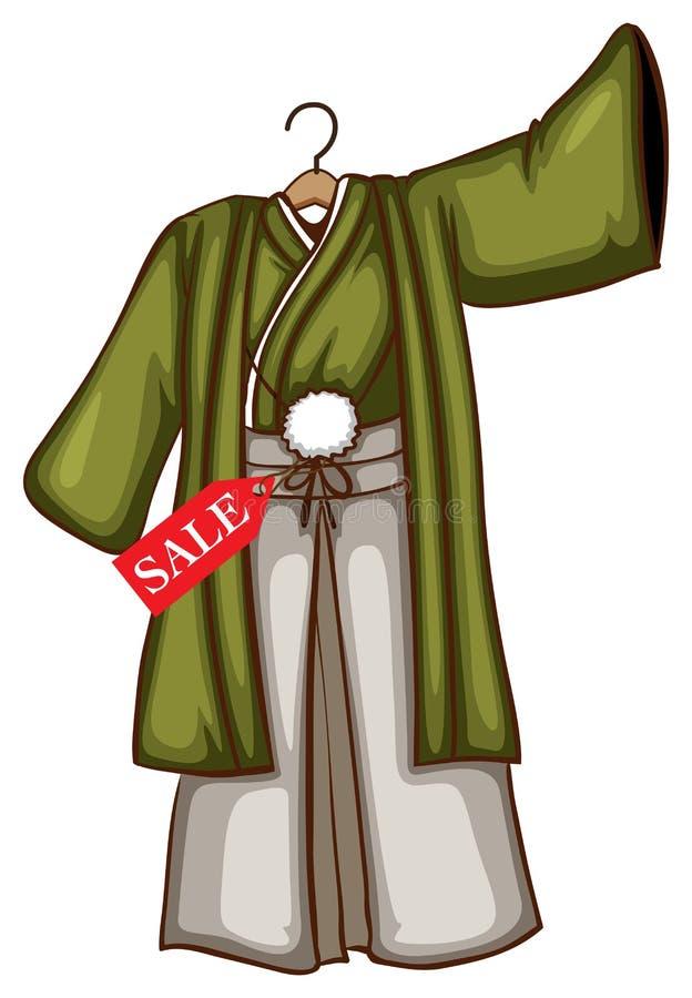 Een schets van een eenvoudige voorzien kleding van Azië vector illustratie