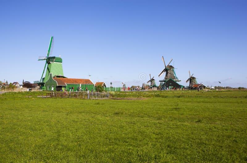 Een schilderachtig etnografisch dorp Zanes-Schans nederland stock foto