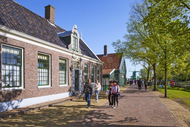 Een schilderachtig etnografisch dorp Zanes-Schans nederland stock fotografie
