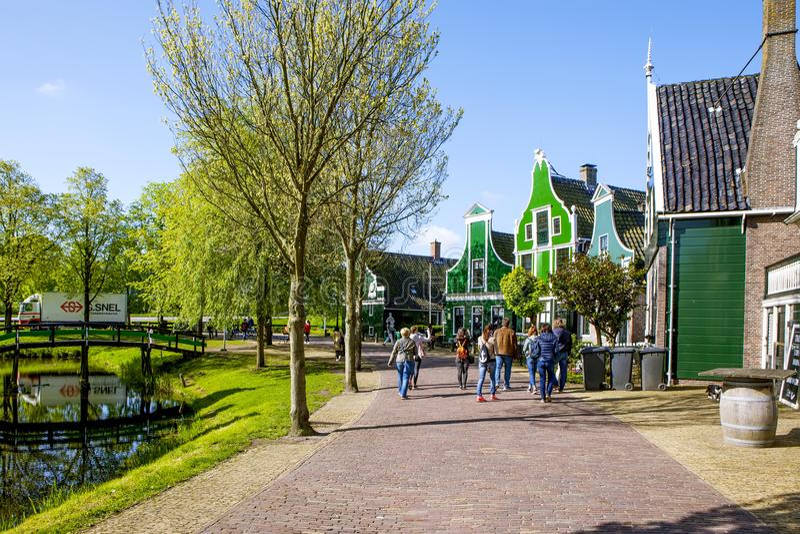 Een schilderachtig etnografisch dorp Zanes-Schans nederland royalty-vrije stock fotografie