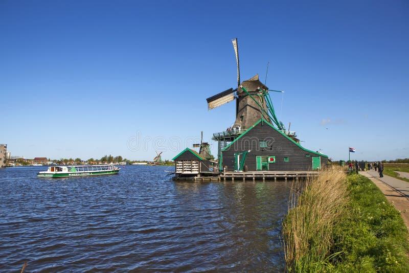 Een schilderachtig etnografisch dorp Zanes-Schans nederland royalty-vrije stock foto's