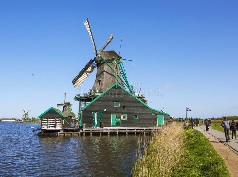 Een schilderachtig etnografisch dorp Zanes-Schans nederland royalty-vrije stock afbeeldingen