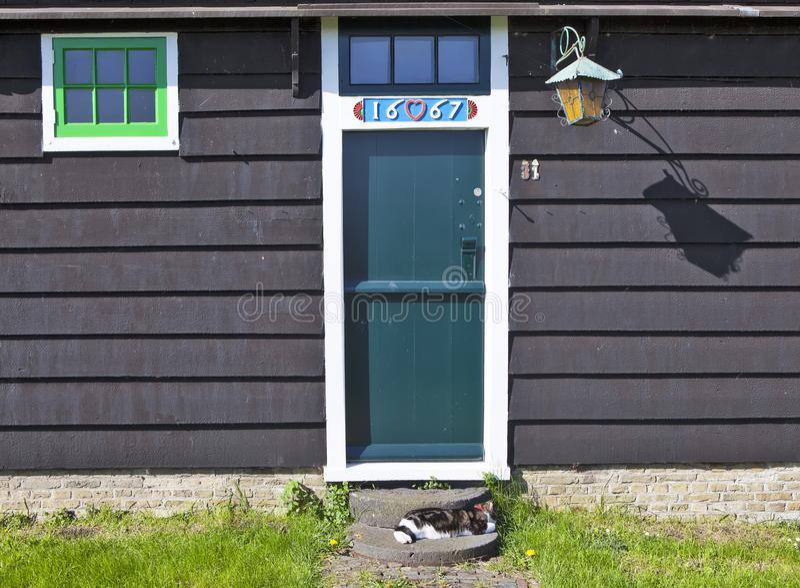 Een schilderachtig etnografisch dorp Zanes-Schans nederland stock foto's