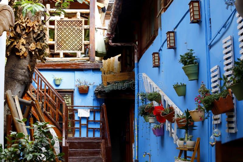 Een schilderachtige mening van de historische stad van Lijiang, Yunnan, China stock foto