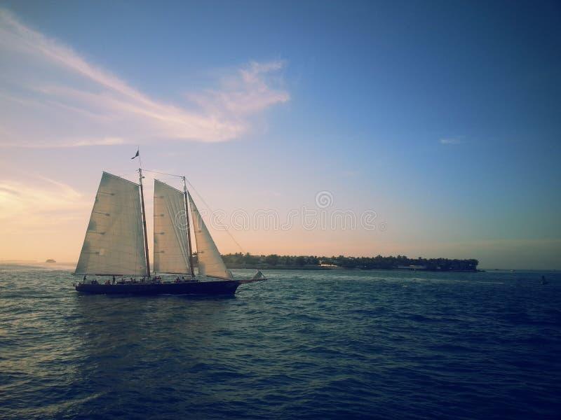 Een schip in de golf van Mexico in Key West, FL royalty-vrije stock foto's