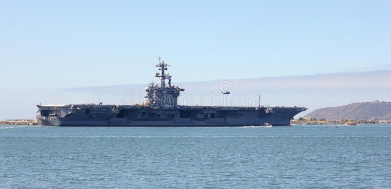 Een schot van USS Carl Vinson (cvn-70) royalty-vrije stock afbeeldingen