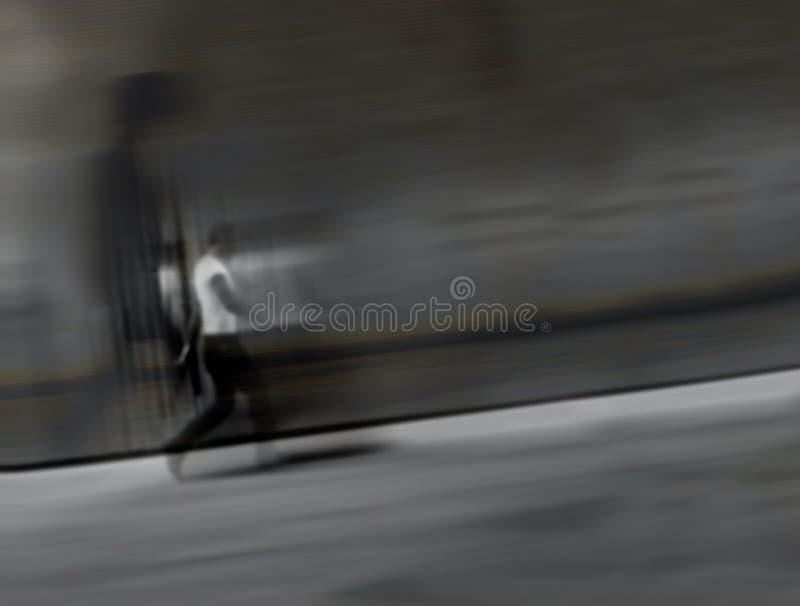Een silhouet van een lopende mens royalty-vrije stock afbeelding