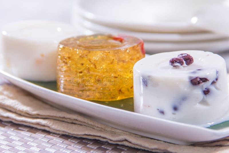 Een smakelijke keukenfoto van dessert stock afbeelding