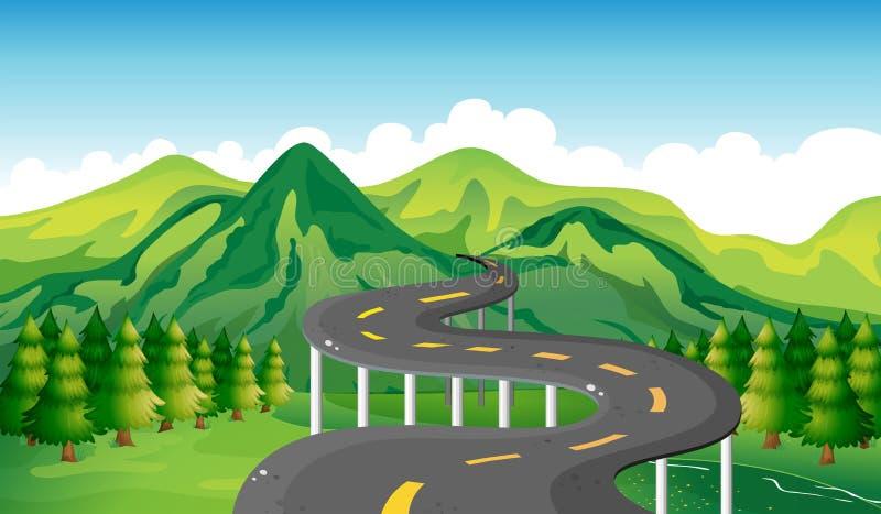 Een smalle weg royalty-vrije illustratie